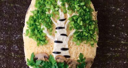 Хорошая замена привычным салатам. Эффектно, красиво и просто