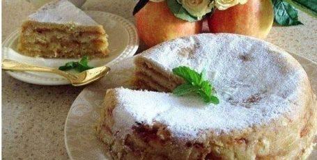 Очень нежный яблочный торт
