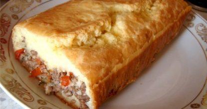 """""""Ленивый"""" пирог с начинкой…Ну очень вкусно, попробуйте!"""