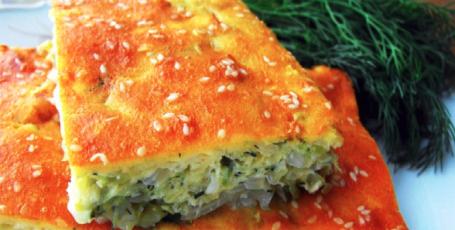 Простой, вкусный, быстрый, заливной пирог с капустой