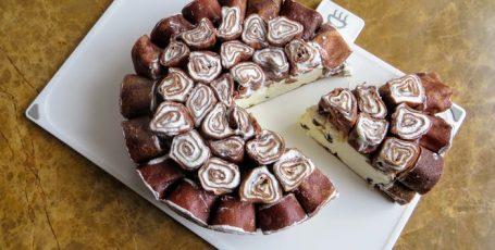 """Лучший рецепт для Масленицы! Блинный торт – """"пломбир в шоколаде"""""""