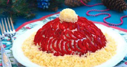 """Сказочный салат """"Красная шапочка"""" из простых продуктов"""