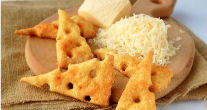 Сырные крекеры – идеальный перекус!