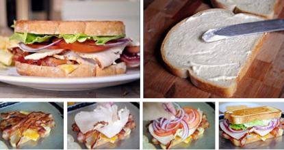 Очень сытный сэндвич