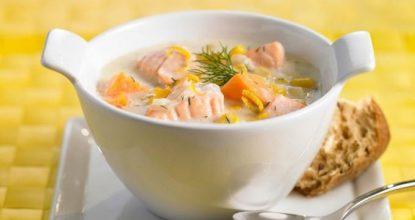 Финский суп с лoсoсем и сливками