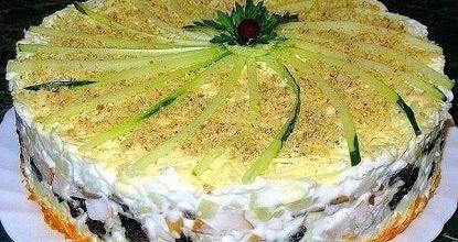 """Салат Печень трески под шубой"""""""