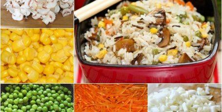 Вкусный рис с грибами