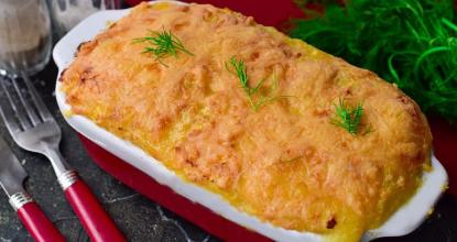 Картофельная запеканка по-украински — очень сытное и вкусное блюдо