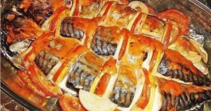Лёгкий рецепт скумбрии в духовке