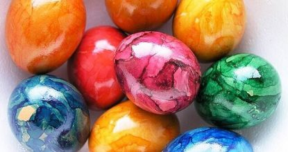 Покрасим яйца по новому методу
