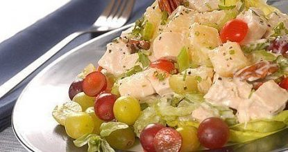 Куриный салат с виноградом