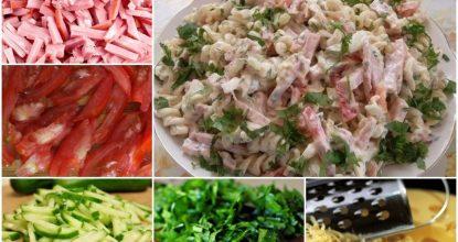Сытный итальянский салат