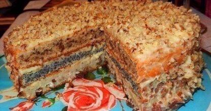 Популярный трехслойный домашний торт