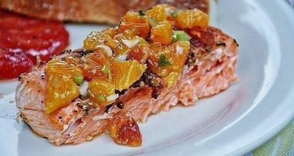 Филе лосося с апельсинами