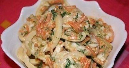 Салат с кальмарами «Лассо»
