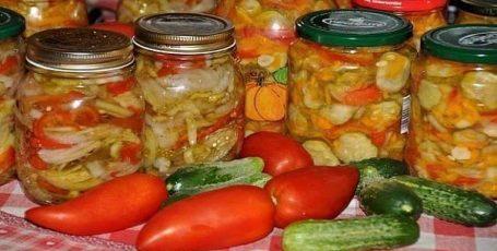 Фруктово-овощное ассорти в маринаде