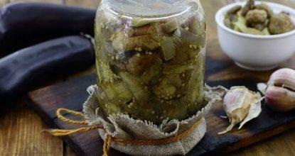 Заготовка баклажанов с грибами на зиму