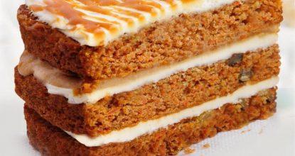 Морковно-овсяный диетический тортик