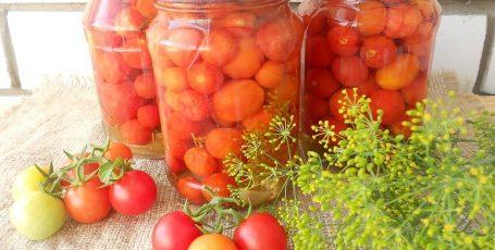 Маринованные помидорчики черри на зиму