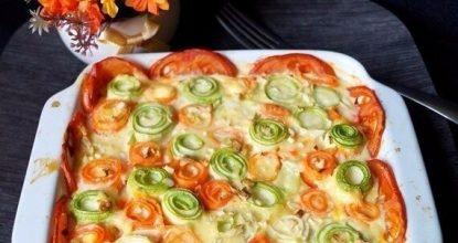 ПП–рецепт: красивая овощная запеканка