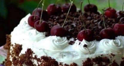 """Торт """"Черный лес"""" с вишней и шоколадным кремом"""