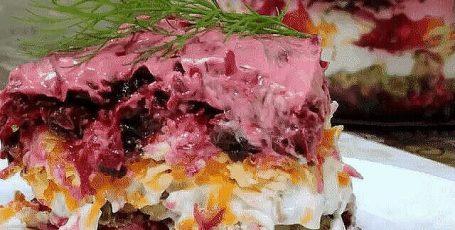 Нежнейший свекольный салат с черносливом