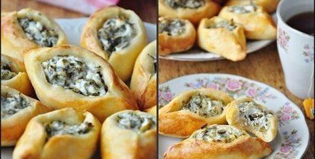 Погача (восточные пирожки) с сыром Фета