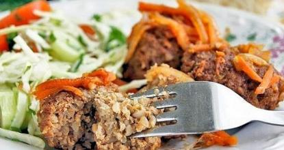 Тефтели из гречки и куриного филе
