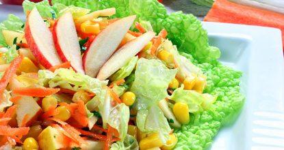 Салат с пекинской капустой диетический