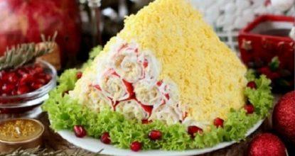 """Оригинальный салат """"Монастырская изба"""" – салат на Новый Год"""