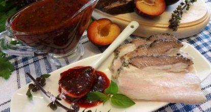 Вкусные рецепты сливового соуса к мясу