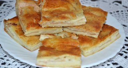 Альмойшавена – испанская сладкая лепешка с яблоком