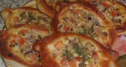 Очень крутой рецепт! Пирожки-лодочки с сырно-грибной начинкой!