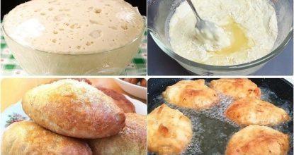Потратьте 5 минут и приготовьте это дрожжевое тесто. Готовить из него можно пирожки с любой начинкой