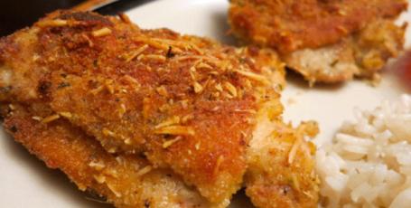 Бесподобно нежные и сочные куриные бедрышки в горчично-сырной панировке