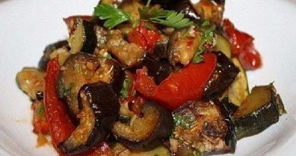 Запеченные овощи в маринаде