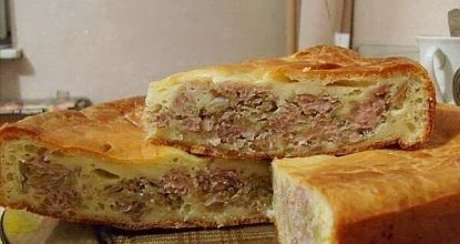 Вкуснейший  мясной пирог