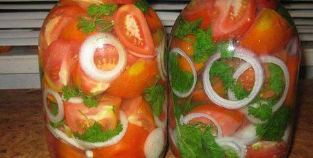 Помидорные дольки – маринованные помидоры