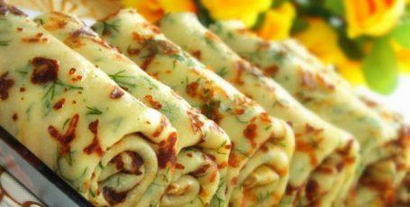 Сырные блинчики с зеленью – объедение, лакомство!