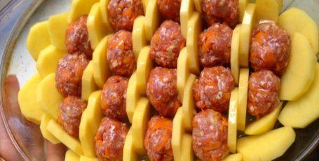Картофельная Запеканка с Фрикадельками- замечательная идея сытного ужина для всей семьи!