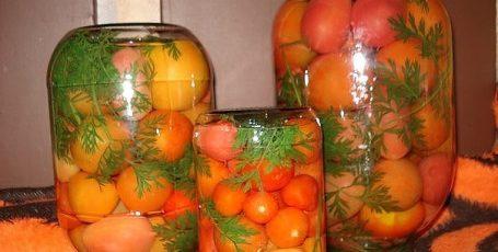 Помидоры с морковной ботвой
