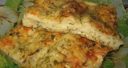 Пирог сырный из лаваша