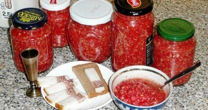 Приправа хрен с помидорами