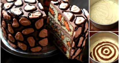 Леопардовый торт Вот это красота! Торт на удивление красив и легок в приготовлении!