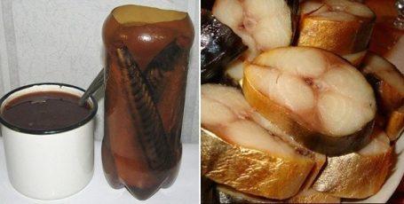 СКУМБРИЯ В БУТЫЛКЕ – настоящий деликатес! Рыбка получается вкуснее копченой! Попробуйте и оцените!