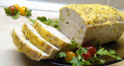 Куриный террин под сырной корочкой – просто сказка!