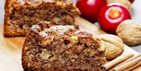 Яблочный пирог с грецким орехом, устоять невозможно