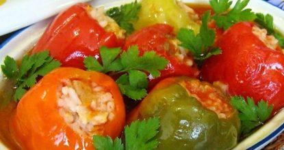 Рецепт приготовления фаршированного болгарского перца