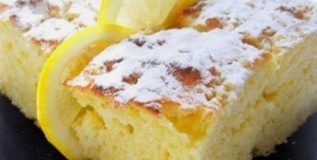 Очень легкие лимонные пирожные