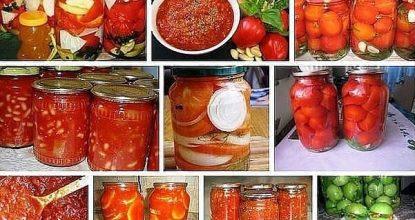 Баклажаны в томатах